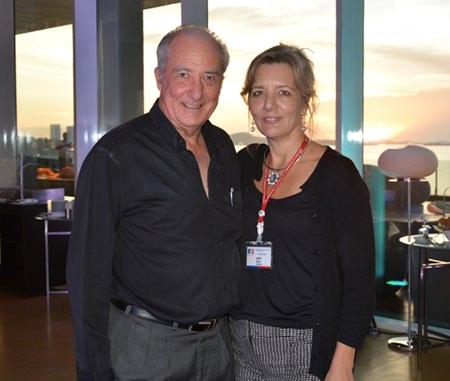A lovely pair, Dr. Iain Corness and Judy Benn, Executive Director of AmCham.