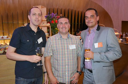 (L to R) Gary Russell, Paul McConnell from Regents International School and Keith Ellis, Sales Director of Atalian Global Services.