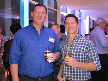 Pattaya Marriot's Matthey Fryar (left) with Sam McMahon VP Commercial & Finance Thailand of NS Bluescope (Thailand).