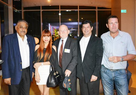 (L to R) Peter Malhotra, MD of the Pattaya Mail Media Group, Wannaphot Kaewpoung, Marketing Executive of Ruwac Asia Limited, Ron Smith, Director of  S-3 Services, Bobby Brooks and Paul Gerard Wilkinson, International Operations Manager of Cooper International Engineering & Services Co., Ltd. (CIES).
