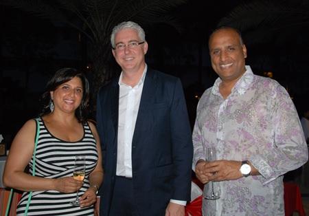 (L to R) Daksha Gohil, Brendan Daly, General Manager of Amari Pattaya, and Bic Gohil from Ford Motors.