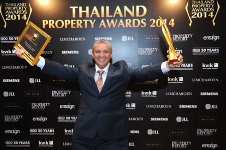 Terrence Allen Collins, MD of Bravothai Lifestyles Co., Ltd. is delighted with the win for The Vineyard.