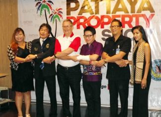 Officials gather to announce the 2nd Pattaya Property Show will commence Oct. 3 - 5.