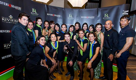 The Riviera Group team show their support for business networking and charity at the latest Movers and Shakers event held last month at the Holiday Inn, Pattaya.