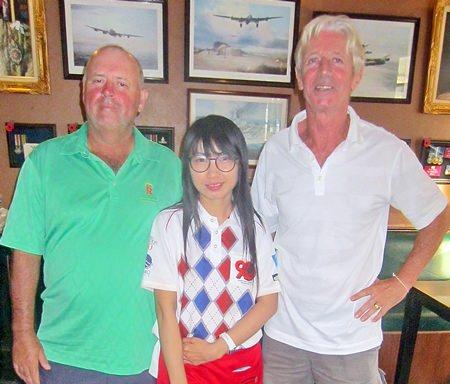 Flight winners Bob Watson and Patrick Poussier with one of Bert's finest.