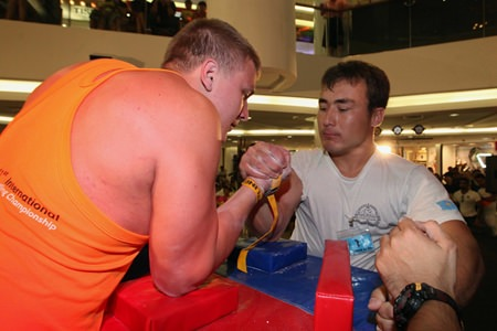 Raikhanov Shynbolat, 23, bested Pavel Lunev of Russia for first place in the under 85 kg. division.