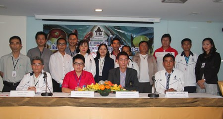 Organizers and representatives from hotels in Pattaya announce the 24th Hoteliers Sports Tournament.
