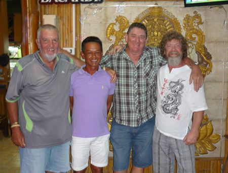 Winner Gary Bolger with runners up Rob Lamond, Wichai and Charlie Landrebe.