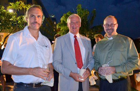 (l-r) Erik Roos, Ragnvald Seierstad (Sjomannsprest Pattaya) and Bjorn Wennerstrom (Church of Sweden Bangkok).