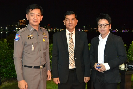(l-r) Pol.Lt.Col. Arun Promphan, Superintendent of Pattaya's Tourist Police, Chaowalit Sang-Utai, Permanant Secretary of Chonburi Province and Rattanachai Suthidechanai , President of Tourism and Culture Committee at Pattaya City Hall.