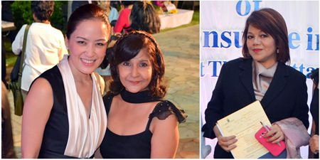 Alisa Phanthusak (Tiffany's Show), Sue Kukarja (PMTV) and Vanjie Lauzon (Dusit Thani Pattaya) enhance the evening's festivities with their beauty.