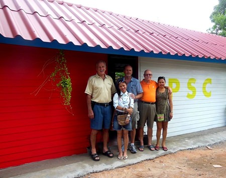 The house built with thanks to Pattaya Sports Club.