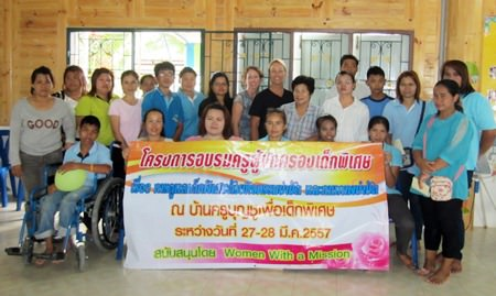 Staff at Baan Khru Boon Choo Centre with Laurie Bastien, Rosanne, and Wanji at the end of 2 days of training by Laurie Bastian.