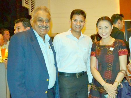 Peter Maholtra, MD of Pattaya Mail, chat with Parag Kshirsagar and Areewan Thammasorn from Compass Hospitality Bangkok.