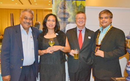 Peter Malhotra, MD of Pattaya Mail, Ken and Pitcha Whitty of Paulaner Thailand, and President Tony Malhotra.