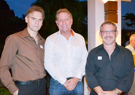 Patrick Menhorn of Newspaper Direct, Gary Marshall of Travel Daily Media, and Darren Brodie.