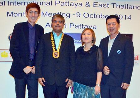 Sanpech Supabowornsthian, President THA Eastern Chapter, President Tony Malhotra, TAT Pattaya Director Suladda Sarutilavan and Asst. Director Auttapon Thaweesuntorn.