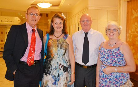 President Russell and Maggie Iffland (Rotary Club Eastern Seaboard) together with their members.