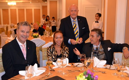 President Ingo Raeuber (left) of the Rotary Club of Phoenix Pattaya with his fellow members.
