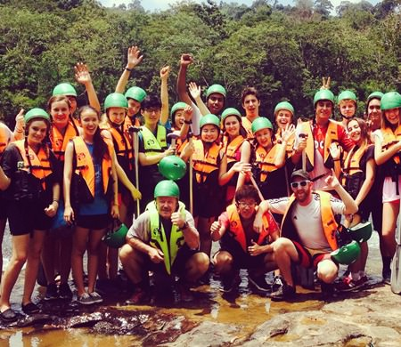 Year 13 students from Regents on an Outdoor Education expedition last month.