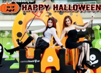 """Today, Oct. 31, is """"All-Hallows-Eve"""", better known as Halloween. Throughout Pattaya, many shopping malls, restaurants, bars and entertainment venues will be putting on special attractions to help celebrate this pagan festival to remember the dead like only Pattaya can. Shown here, pretty models welcome one and all to the event at Central Festival Pattaya Beach. Ripley's Believe it or Not! in the Royal Garden Plaza is also famous for Halloween fun. Let's not forget Walking Street, where usually the biggest Halloween parties are held. Happy Halloween!"""
