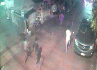 Closed-circuit cameras captured images of the Cambodians attacking the Thais.