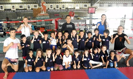 The Early Years 3 (Reception) classes land at the Sityodtong Muay Thai boxing camp.