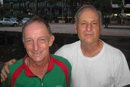 Chris Voller (left) and Colin James.