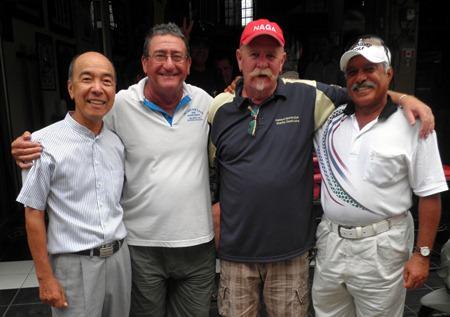 Left-right: Mashi Kaneta, Stu Rifkin, Peter Grey and Eb Alansari.