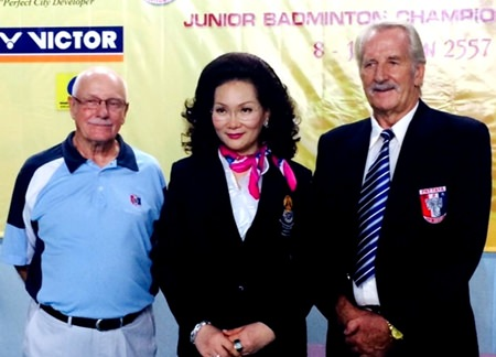 William Macey (right) with Khun Ying (center) and PSC Social Chairman, Nigel Cannon (left).