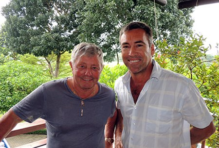 Bernie Stafford (left) with Tony Harrop.