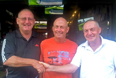 Greg, Phil & Stan after Friday's golf.