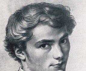 Franz Schubert as a young man.
