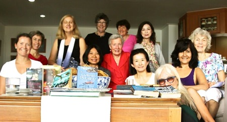 Ladies Book Group members pose for a photo at their monthly meeting on Oct. 28.