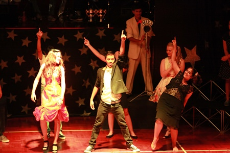 Looking good! An energy-packed number during Grease.