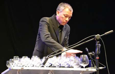 Weerapong Thaweesak produced some sonic wonders on his glass harp.