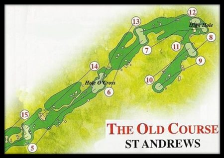 Old Course St Andrews – depicting the Hole O'Cross 5th and the High Hole 7th.