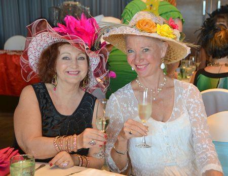 Elfi and Lela look beautiful in their fabulous hats.