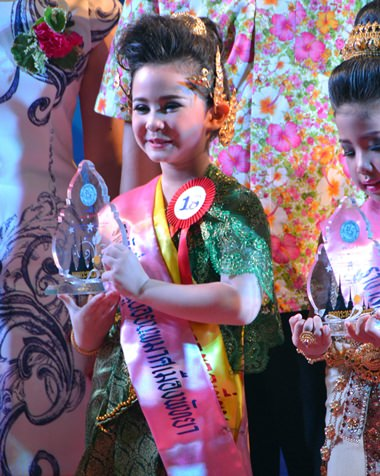 The little winner of the Pattaya Nong Noppamas contest.
