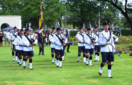The Pipe Band.