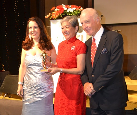 Ivy and Peter Schelageter receive the award for most charming couple.