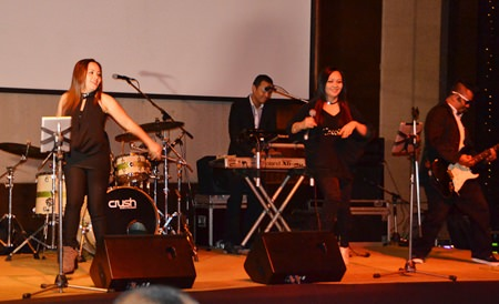 The hot band Power Jam filled the dance floor with their music.