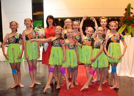 This young team of lively dancers from the Russian Roskinka Ballet School was part of the fabulous entertainment.