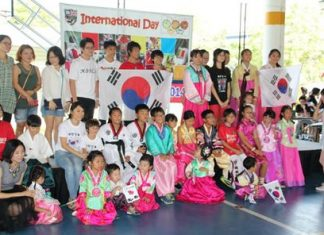 South Korean students and parents.