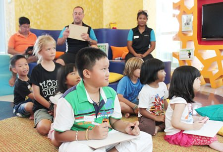 Children on vacation enjoyed two fun-filled days of English-language activities.