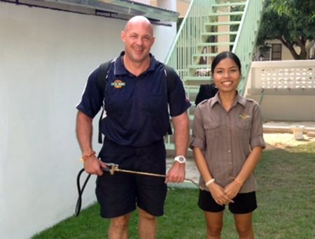 A big thanks to Carl and Min from 'Creepy Crawly Pest Control'.