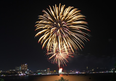 A scene from last year's exciting International Fireworks Festival.