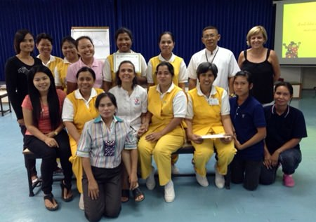Thai staff from the International School of the Eastern Seaboard participate in a Child Protection workshop presented by the Hand to Hand Foundation.