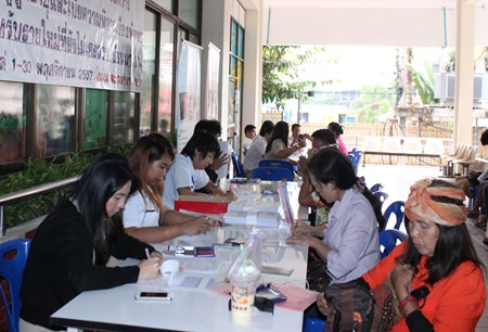 Pattaya's new elderly residents register for benefits.