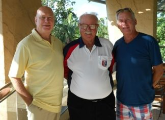 Stephen Cooper Reade and Peter Bygballe with Dave Richardson.
